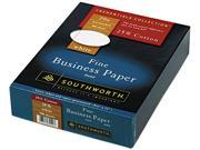 Southworth 403CR 25% Cotton Business Paper 20 lbs. 8 1 2 x 11 White w Red Rules 500 Box