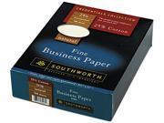 Southworth                               25% Cotton Business Paper, 24 lbs., 8-1/2 x 11, Natural, 500/Box