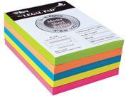 Tops 99622 Assorted Fluorescent Color Memo Sheets 4 x 6 500 Loose Sheets Pack