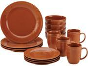 Rachael Ray 16 pc. Cucina Dinnerware Set Pumpkin