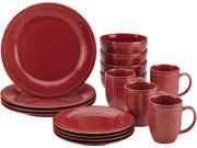 Rachael Ray 16 pc. Cucina Dinnerware Set Cranberry