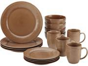 Rachael Ray 16 pc. Cucina Dinnerware Set Mushroom