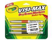Crayola 988901, Dry Erase Marker, Chisel Tip, Fine, Assorted Colors, 4/Set