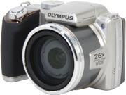 OLYMPUS SP-720UZ IHS Silver 14 MP 26X Optical Zoom Digital Camera HDTV Output