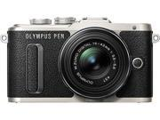 OLYMPUS V205081BU000 Black PEN E PL8 Black Body with 14 42 IIR Black Lens