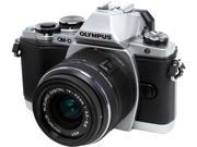 """OLYMPUS OM-D E-M10 V207021SU000 Silver 16.1MP 3.0"""" 1037K Touch LCD Digital Camera with 14-42mm 2RK Lens"""