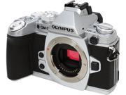 """OLYMPUS OM-D E-M1 V207010SU000 Silver 16.3 MP 3.0"""" 1037K Touch LCD Micro Four Thirds Interchangeable Lens system Camera - Body"""