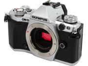 "OLYMPUS OM-D E-M5 Mark II V207040SU000 Silver 16.1 MP 3.0"" LCD Mirrorless Micro Four Thirds Digital Camera (Body)"