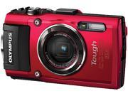 "OLYMPUS TG-4 V104160RU000 Red 3.0"" 460K Dots Camera"