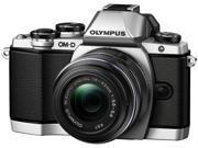OLYMPUS OM-D E-M10 Mark II Silver Body with 14-42 Black EZ Lens, V207052SU000