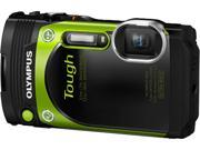 """OLYMPUS TG-870 V104200EU000 Green 3.0"""" 920K Digital Camera"""