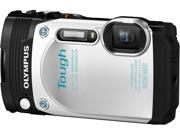 OLYMPUS TG 870 V104200WU000 White 3.0 920K Digital Camera