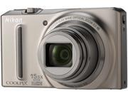 Nikon COOLPIX S9050 Silver 12.1 MP 15.5X Optical Zoom 25mm Wide Angle Digital Camera