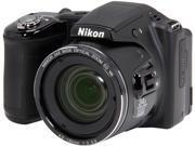 Nikon COOLPIX L830 Black 16 MP 34X Optical Zoom Wide Angle Digital Camera HDTV Output