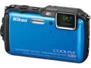 "Nikon COOLPIX AW120 26466 Blue 16 MP 3.0"" 921K Action Camera"