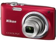 Nikon COOLPIX S2700 32169 Red 16MP 6X Optical Zoom 26mm Wide Angle Digital Camera
