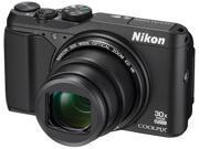 Nikon COOLPIX S9900 26497 Black 16.00 MP 30X Optical Zoom Wide Angle Digital Camera