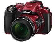 Nikon COOLPIX CP610 26489 Red 16.00 MP 60X Optical Zoom 24mm Wide Angle Digital Camera