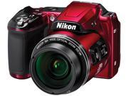 Nikon COOLPIX L840 26486 Red 16.00 MP 38X Optical Zoom Wide Angle Digital Camera