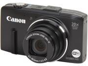 Canon Powershot SX280 HS Black 12.1 MP 20X Optical Zoom 25mm Wide Angle Digital Camera HDTV Output