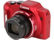 Canon PowerShot SX170 IS Red Approx. 16.0 Megapixels 16X Optical Zoom Digital Camera