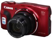 Canon PowerShot SX700 HS Red 16.1 MP 25mm Wide Angle Digital Camera HDTV Output