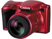 Canon PowerShot SX410 IS 0108C001 Red 20.0 MP 40X Optical Zoom 24mm Wide Angle Digital Camera