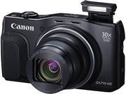 Canon 0109C011AA Black 30X Optical Zoom 135 mm Wide Angle PowerShot SX710 HS - Digital Camera