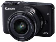 Canon EOS M10 0584C011 Mirrorless Digital Camera with 15 45mm Lens Black