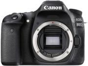 Canon EOS 80D 1263C004 Black Digital SLR Camera - Body