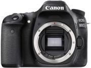 Canon EOS 80D 1263C004 Black 24.2 MP Digital SLR Camera - Body
