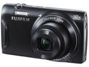 FUJIFILM FinePix T550 16309056 Black 16 MP 24mm Wide Angle Digital Camera