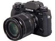 "FUJIFILM X-T1 16421555 Black 16.3 MP 3.0"" 1040K LCD Digital Camera w/XF18-55mm Lens"