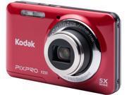 Kodak FZ51-RD Red 16.15 Megapixels 5X Optical Zoom Wide Angle Friendly Zoom Digital Camera