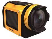 "Kodak PIXPRO SP1 Yellow 1080p Action Cam, 14MP CMOS - with 1.5"" LCD Screen and Explorer Accessory Pack"