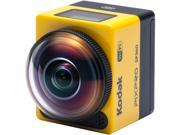 "Kodak PIXPRO SP360 SP360-YL3 Yellow 16.38 MP 1"" Action Camera - Explorer Pack"