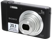 SONY Cyber-Shot W800 Black 20.1 MP 5X Optical Zoom Digital Camera