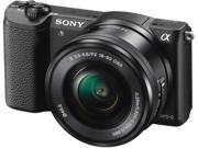 "SONY Alpha a5100 ILCE-5100L/B Black 24.3 MP 3.0"" 921.6K Touch LCD Mirrorless Camera w/ 16-50mm lens"