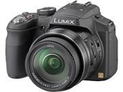Panasonic LUMIX FZ200 Black 12.1 MP 24X Optical Zoom 25mm Wide Angle Digital Camera with EYE-FI-4CN Wireless Flash Card HDTV Output