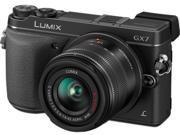 "Panasonic LUMIX DMC-GX7 DMC-GX7KK Black 16.00 MP 3.0"" LCD Mirrorless Micro Four Thirds Digital Camera with 14-42mm f/3.5-5.6 Lens"