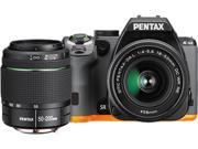 PENTAX K-S2 13218 Black / Orange 20.12 MP Digital SLR Camera With 18-50mm & 50-200mm Lenses