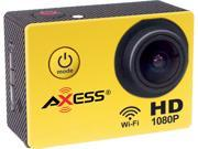 AXESS CS3602 YL Yellow 1.5 Full HD 1080P Action Sports Camera