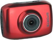 "Computer King Technology DVS1 Red 1.3 MP 2.0"" LCD 4x Digital HD Action Camera with Touchscreen"