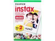 FUJIFILM 16437396 Instax Mini Instant Daylight Film, Twin Pack, 20 Exposures, ISO 800.