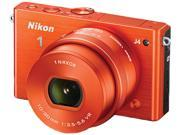 "Nikon 1 J4 27686 Red 18.4MP 3.0"" 1037K LCD Camera with 10-30mm lens"