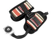 Professional DSLR Camera Hand Grip Strap with Metal Plate by USA GEAR Striped Works With Canon Nikon Panasonic and More Cameras