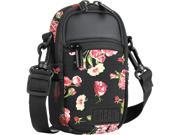 Compact Camera Case Bag Floral with Rain Cover and Shoulder Sling by USA GEAR