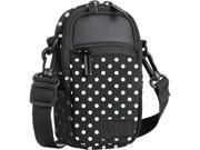 Compact Camera Case Bag Polka Dot with Rain Cover and Shoulder Sling by USA GEAR