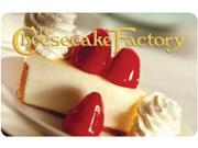 Cheesecake Factory $ 25 Gift Card (Email Delivery)
