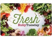 Ruby Tuesday $25 Gift Card (Email Delivery) N82E16832133461